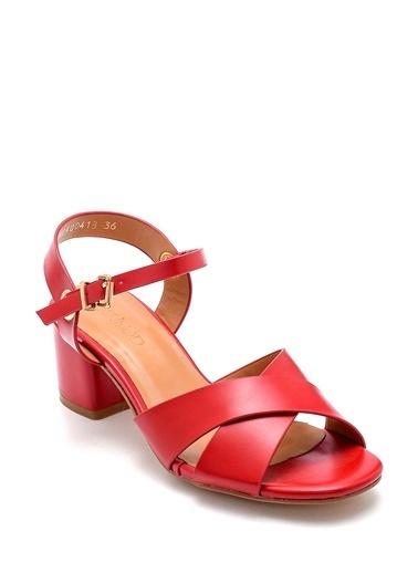 Derimod Kadın Sandalet (3070-13005-Z4) Casual Kırmızı